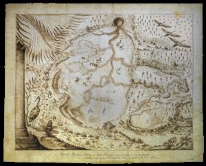 Bartram's sketch of the Great Alachua Savana, 1765