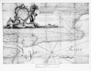 Beauclerc Bluff Plantation, map by Joseph Purcell. Courtesy of the National Archives, Kew, England.