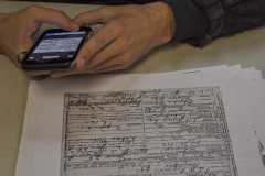 Photographing death certificates