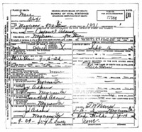 Official death certificate for Infant Adams. Identifier number 27586.