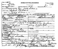 Official death certificate for Infant Mitchell. Identifier number 13363.