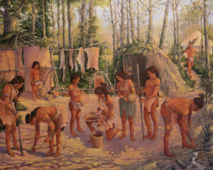 Painting of Mocama people.